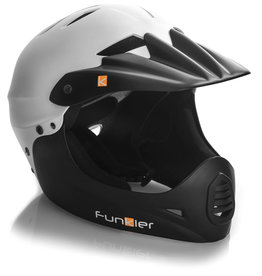 Funkier Sirius Downhill Full Face Helmet in White/Black