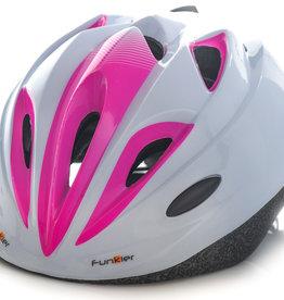 Funkier Talita Kids Helmet in White/Pink