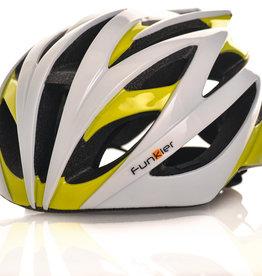 Funkier Tejat Road Elite Helmet in White/Neon