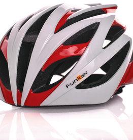 Funkier Tejat Road Elite Helmet in White/Red