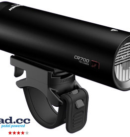Ravemen CR700 USB Rechargeable DuaLens Front Light with Remote in Matt/Gloss Black (700 Lumens)