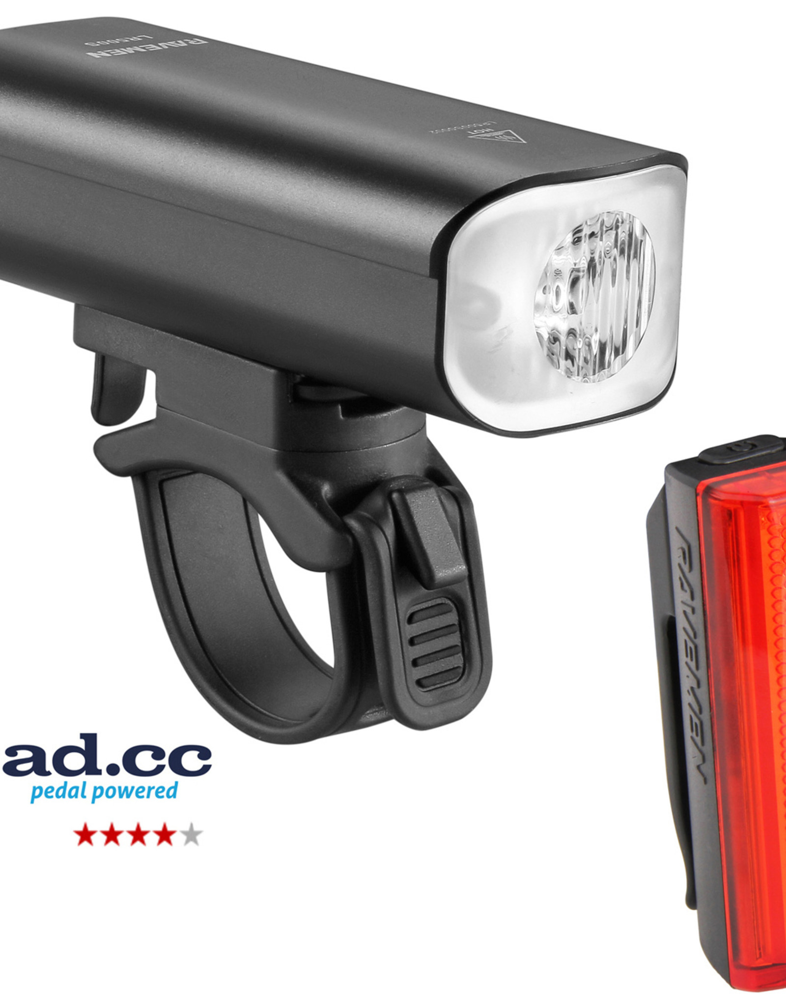Ravemen LR500S (500 Lumens) / TR20 (20 Lumens) USB Rechargeable Twinset