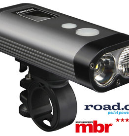 Ravemen PR1200 USB Rechargeable DuaLens Front Light with Remote in Grey/Black (1200 Lumens)