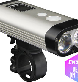 Ravemen PR900 USB Rechargeable DuaLens Front Light with Remote in Silver/Black (900 Lumens)