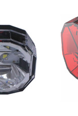 Smart Diamond - 3 White-LED Front Light / 3-LED Rear Twinset
