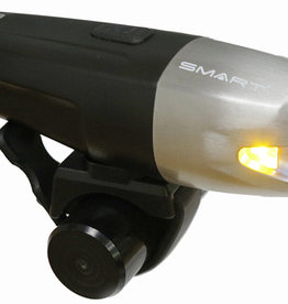 Smart Suburb 800 (800 Lumens / 200 LUX) Front USB Rechargeable Light in Silver Alu/Black