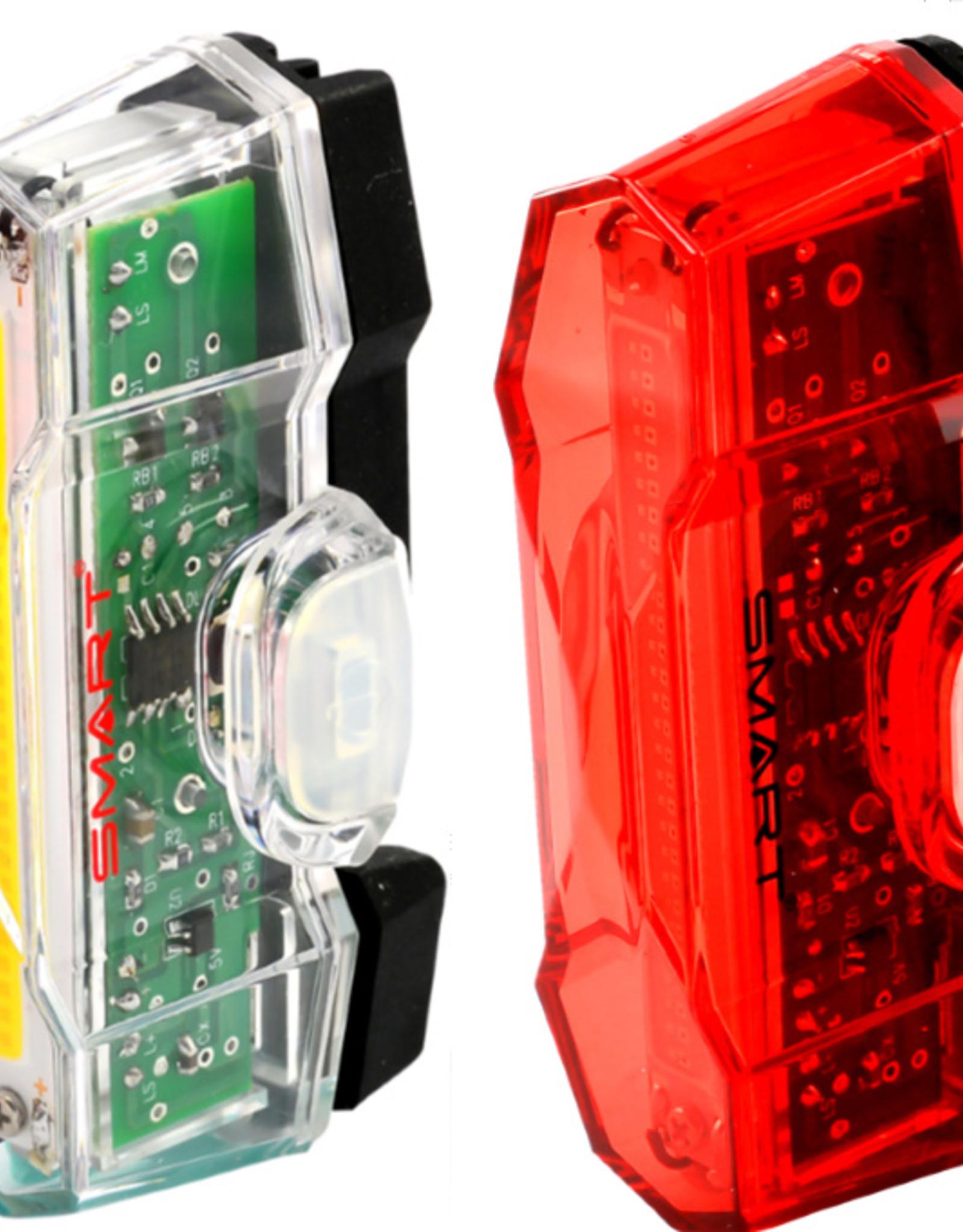Smart Vulcan Front (100 Lumens) / Vulcan Rear (30 Lumens) LED USB Rechargeable Twinset