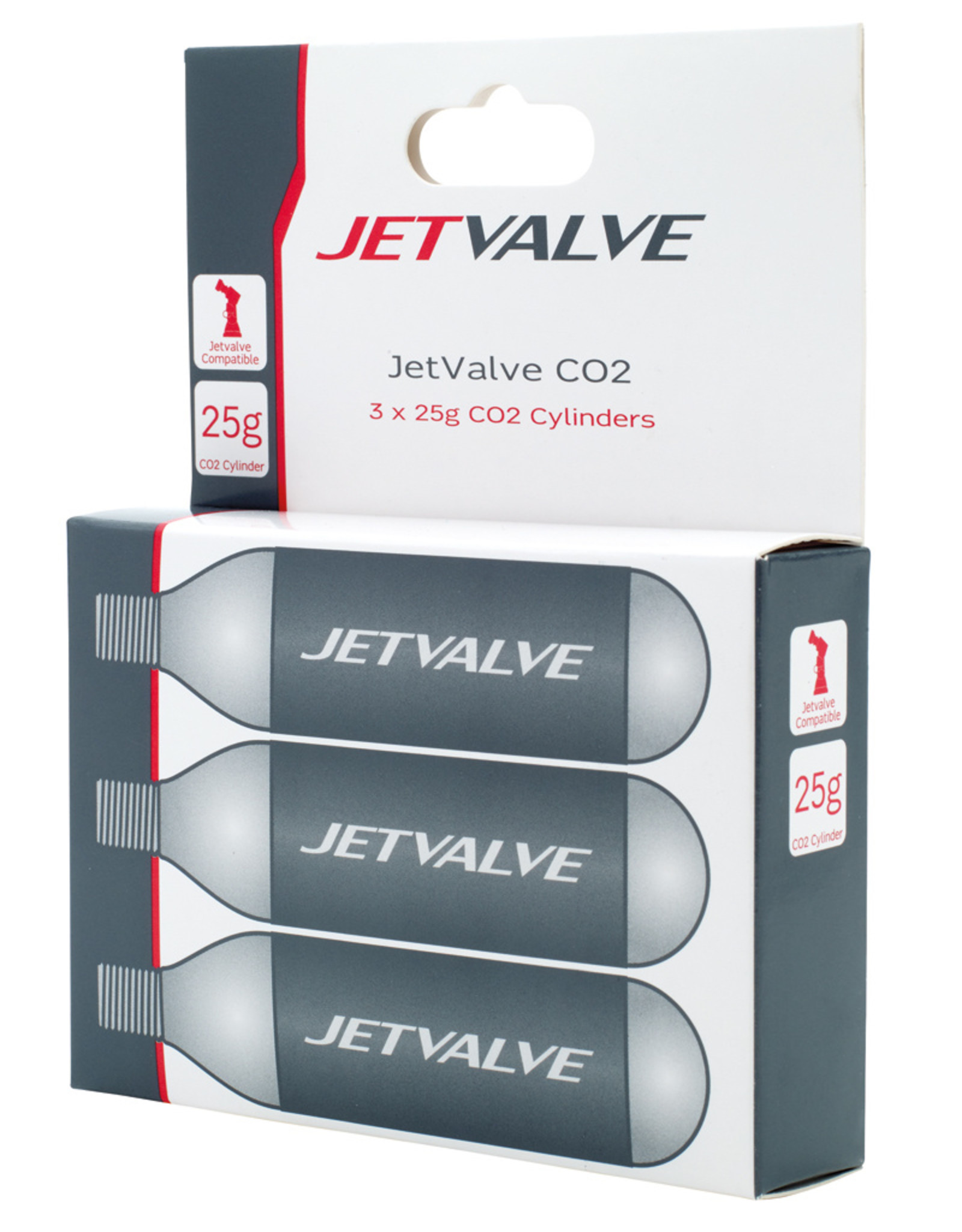 Weldtite Jet Valve CO2 Cylinders 25g (Pack of 3)