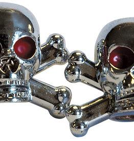 Weldtite Skull Valve Caps in Silver (card of 2)