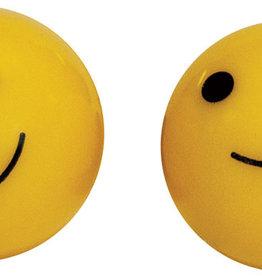 Weldtite Smiley Valve Caps in Yellow (card of 2)