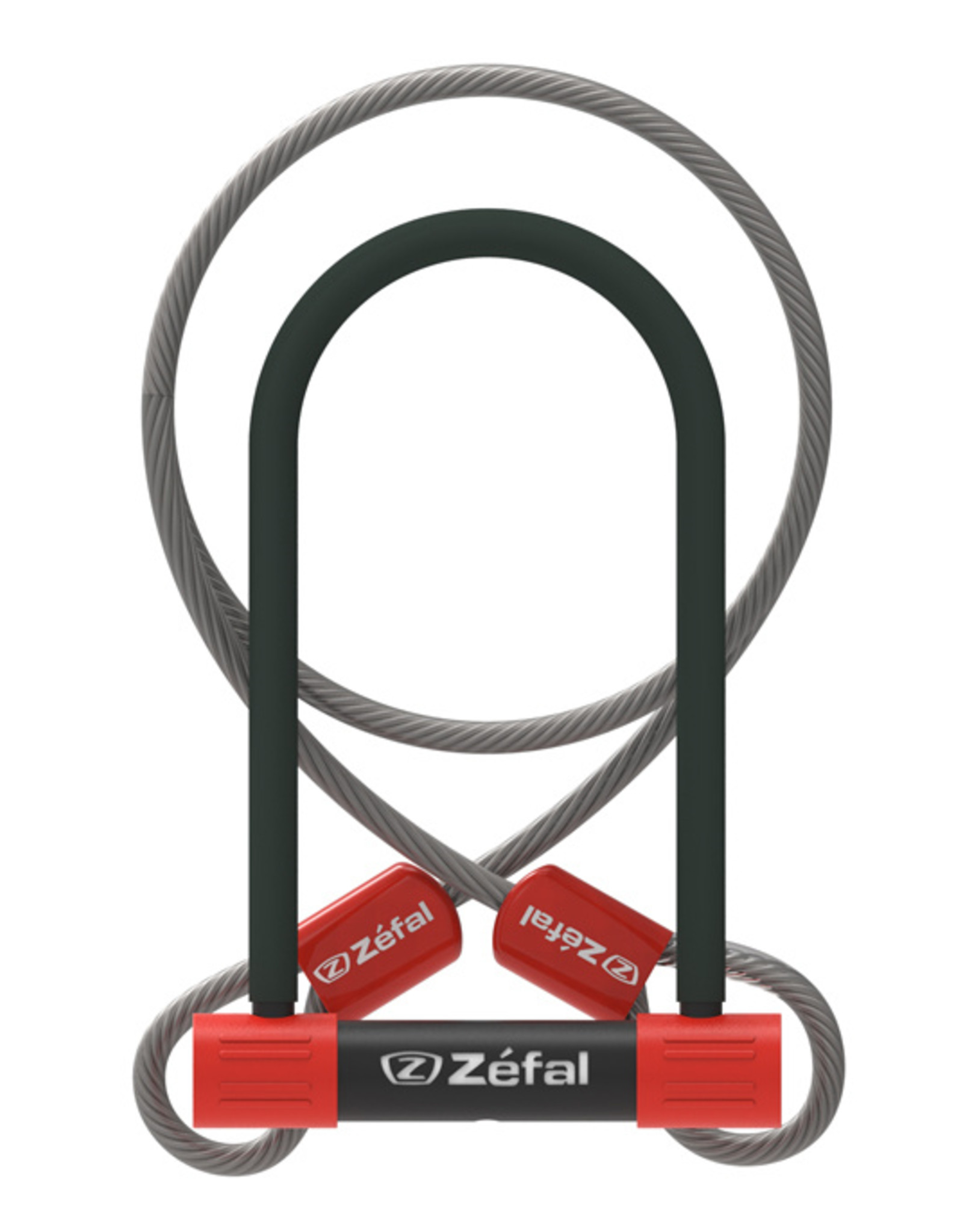 Zefal K-Traz U13 U-Lock with Cable 230mm. SOLD SECURE Silver