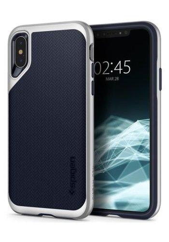 Apple iPhone XS - Spigen Neo Hybrid (zilver)