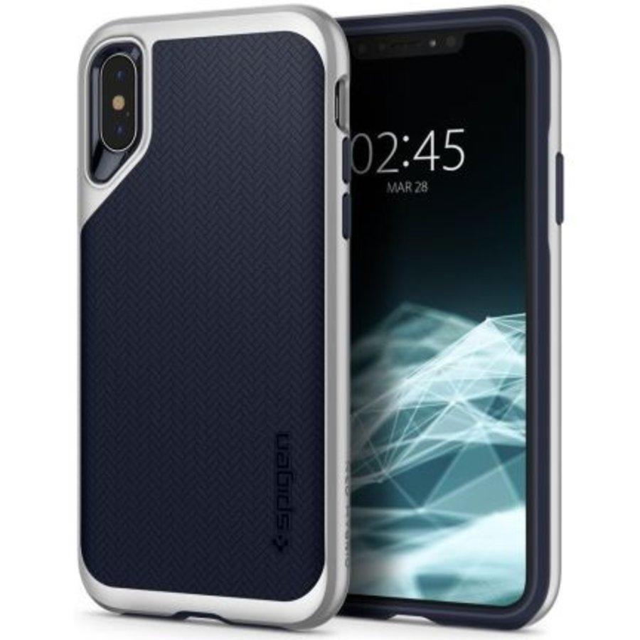iPhone XS Max - Spigen  Neo Hybrid (zilver)-1