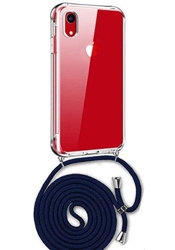 Apple Telefoonhoesje met koord iPhone XR  (donker blauw koord)
