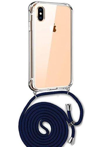 Apple Telefoonhoesje met koord iPhone XS Max (donker blauw koord)