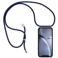 thumb-Telefoonhoesje met koord iPhone XS Max  (donker blauw koord)-3