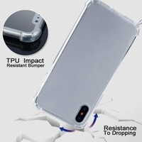 thumb-Telefoonhoesje met koord iPhone XS Max  (donker blauw koord)-6
