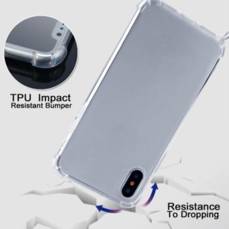 Telefoonhoesje met koord iPhone XS Max  (donker blauw koord)-6