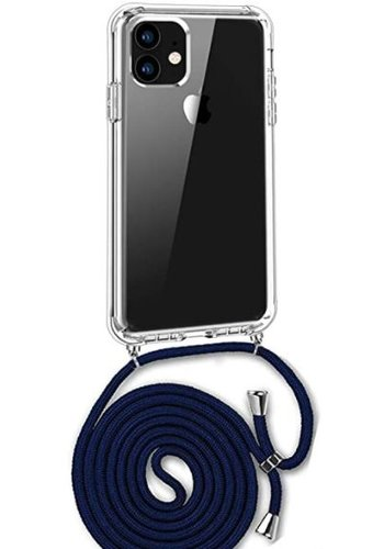 Apple Telefoonhoesje met koord iPhone 11 (donker blauw koord)