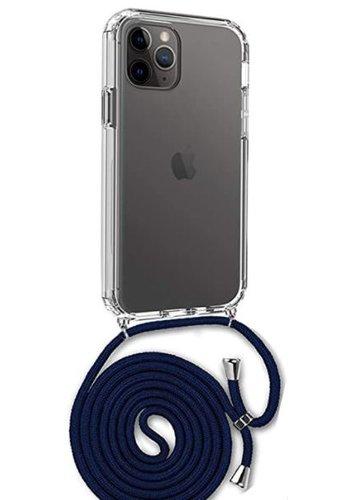 Apple Telefoonhoesje met koord iPhone 11 Pro (donker blauw koord)