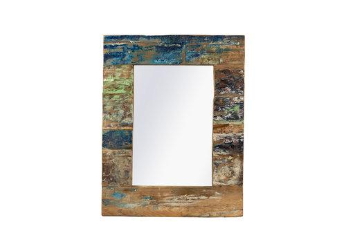 JoJo Living Recycled Teakhouten Spiegel 70x90cm