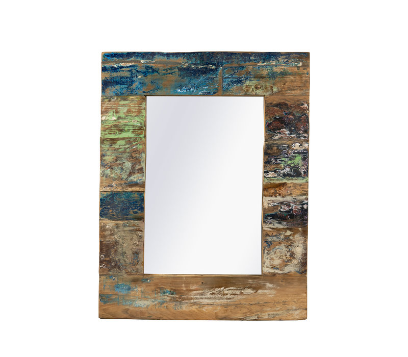 Recycled Teakhouten Spiegel 70x90cm
