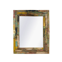 Recycled Teakhouten Spiegel 90x110cm