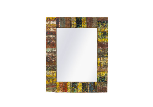 JoJo Living Recycled Teakhouten Spiegel 90x110cm