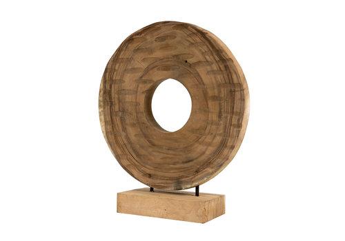 JoJo Living Teakhouten Decoratie Cirkel
