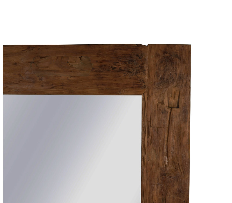 Grote Teakhouten Spiegel 200 cm
