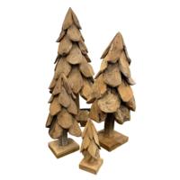 Teakhouten Kerstboom Op Voet
