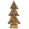 JoJo Living Teakhouten Kerstboom Op Stalen Voet