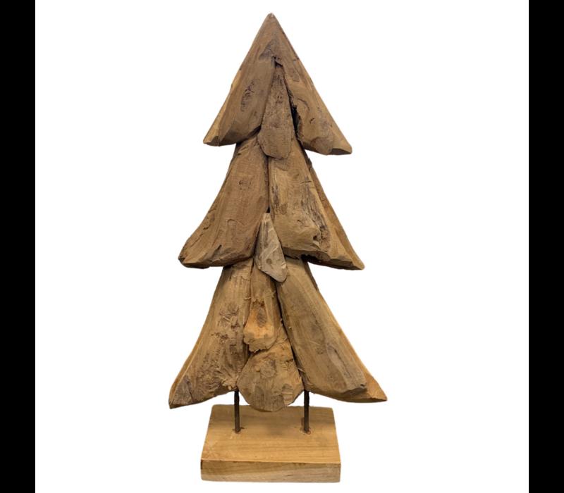 Teakhouten Kerstboom Op Stalen Voet