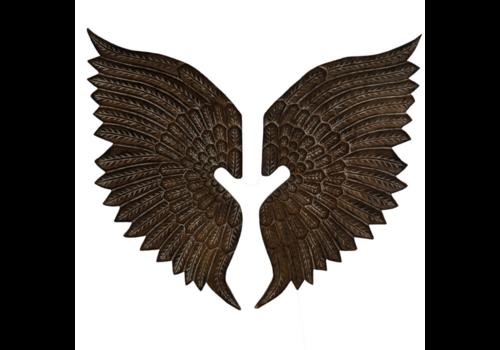 JoJo Living Teakhouten Muurdecoratie Vleugels