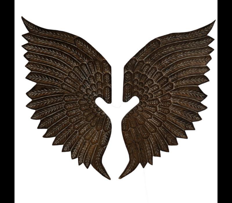 Teakhouten Muurdecoratie Vleugels