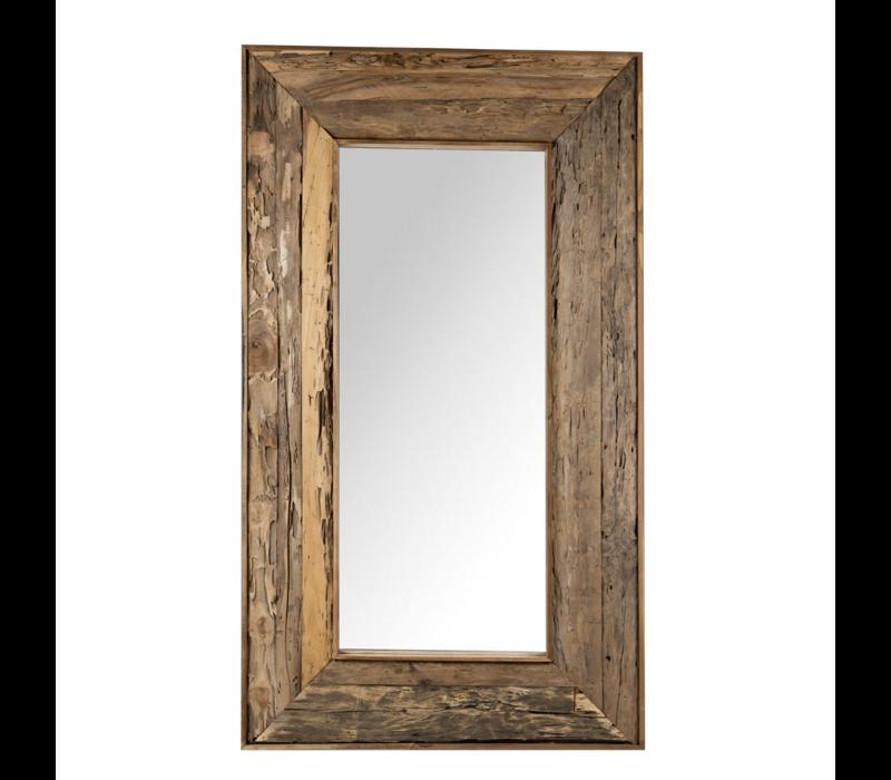 Teakhouten Spiegel 90x160cm