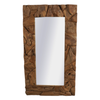 Robuuste Teakhouten Spiegel 176 x 90 cm