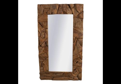JoJo Living Robuuste Teakhouten Spiegel 176 x 90 cm