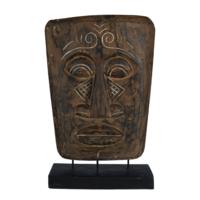 Teakhouten decoratie masker Topeng