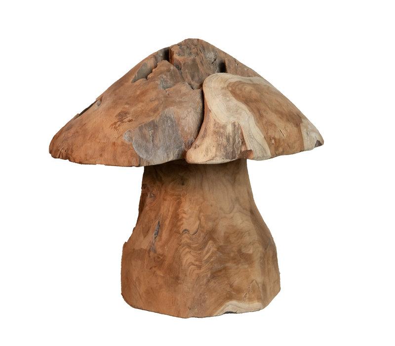 Teakhouten paddenstoel Jamur