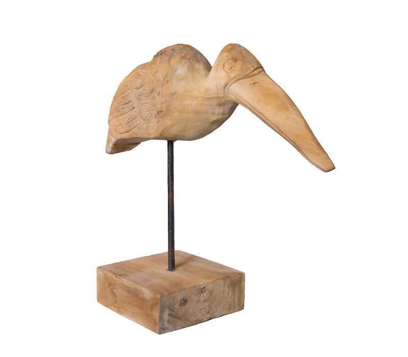Teakhouten vogel Paruh