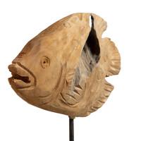 Teakhouten vis Ikan