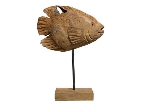 JoJo Living Teakhouten vis Ikan