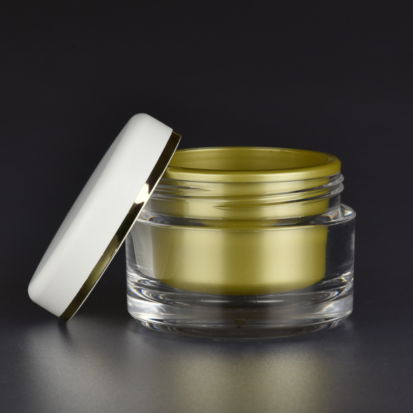 gold coloured cosmetic jar - The Jarfactory