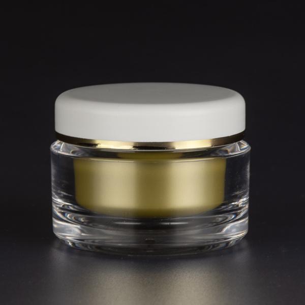 Emballage pots cosmétique doré