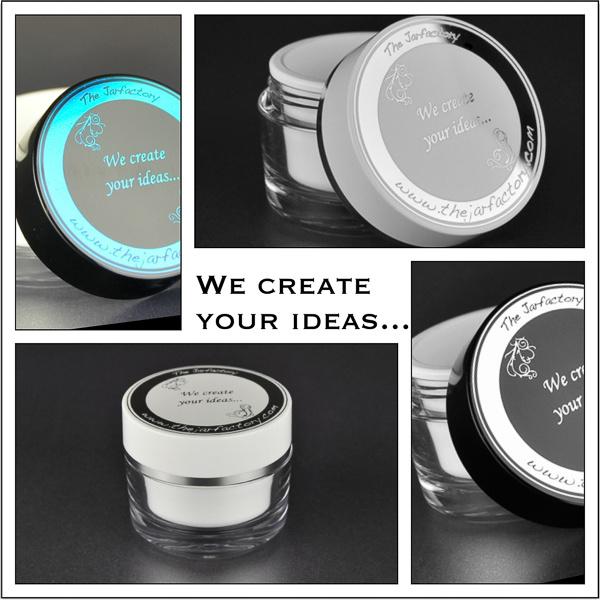 Luxury printing decoration cosmetic jars