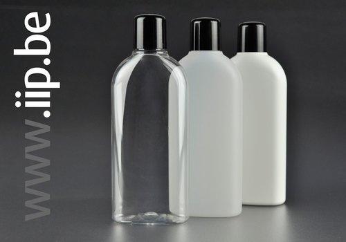 Plastic flessen en schroefdoppen