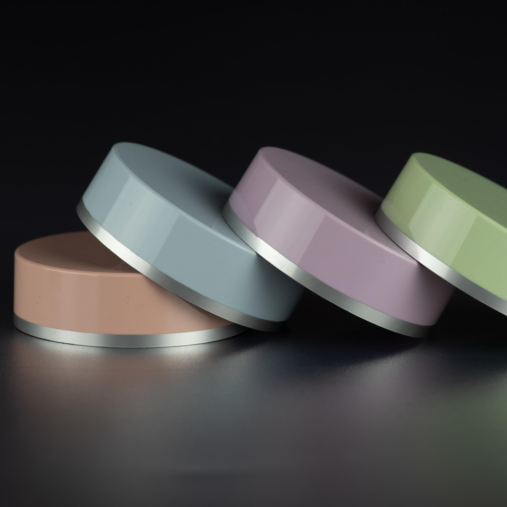 Ingekleurde deksel vervaardigd uit SAN - fabrikant cosmetica verpakking