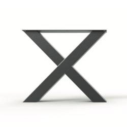 Stalen X-poot (10 x 10 cm)