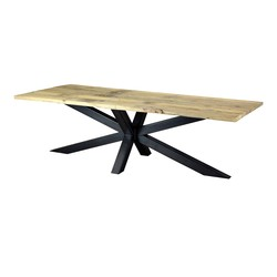 Eetkamertafel sloophout met stalen Matrixpoot